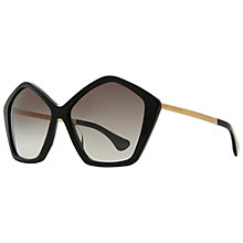 Buy Miu Miu MU11NS 1AB0A7 Octagonal Acetate Frame Sunglasses, Black Online at johnlewis.com