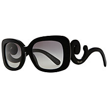 Buy Prada PR 27OS 1AB3M1 Square Sunglasses with Ornate Arms Online at johnlewis.com