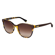 Buy Emporio Armani EA4016 510713 Cat's Eye Acetate Framed Sunglasses, Brown Online at johnlewis.com