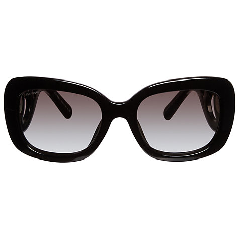 Buy Prada PR33PS 1AB0A7 Baroque Jewelled Temple Square Framed Sunglasses, Black Online at johnlewis.com