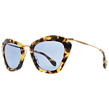 Buy Miu Miu MU10NS 7S00A2 Octagonal Acetate Framed Sunglasses, Yellow Online at johnlewis.com