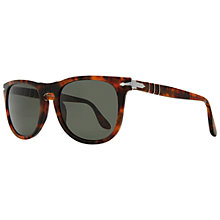 Buy Persol PO3055S 108/58 Rectangular Polarised Sunglasses, Tortoise Online at johnlewis.com