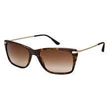 Buy Giorgio Armani AR8019 500213 Rectangular Sunglasses, Havana Online at johnlewis.com
