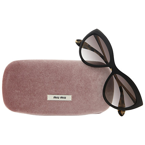 Buy Miu Miu 0MU 08OS  Retro Style Cat's Eye Sunglasses Online at johnlewis.com