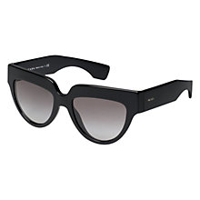 Buy Prada PR29PS D-Shape Sunglasses, Black Online at johnlewis.com