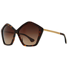 Buy Miu Miu MU11NS 2AU6S1 Octagonal Shaped Acetate Frame Sunglasses, Havana Online at johnlewis.com