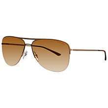 Buy Giorgio Armani AR6007 Metal Frame Aviator Sunglasses Online at johnlewis.com