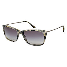 Buy Giorgio Armani AR8019 513111 Rectangular Acetate Framed Sunglasses, Cream/Black Online at johnlewis.com