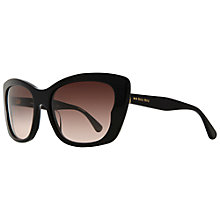 Buy Miu Miu MU030S 1AB1E2 Oversize Square Cat's Eye Acetate Frame Sunglasses, Black Online at johnlewis.com