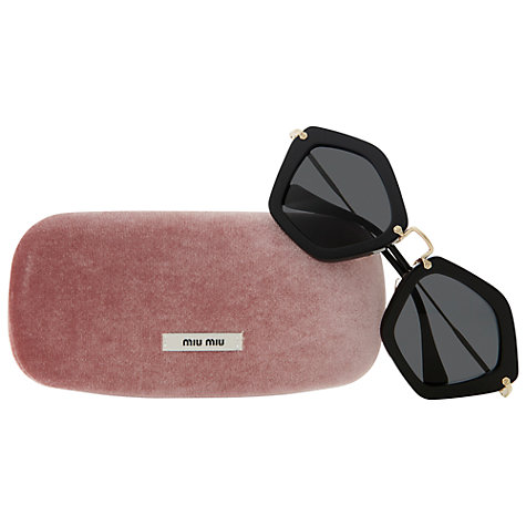 Buy Miu Miu MU06OS Octagonal Framed Acetate Sunglasses Online at johnlewis.com