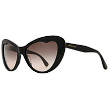 Buy Miumiu 0MU 04OS 1AB1E2 Retro Cat's Eye Sunglasses, Black Online at johnlewis.com