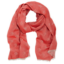 Buy Mulberry Tamara Superfine Cotton Scarf, Red Online at johnlewis.com