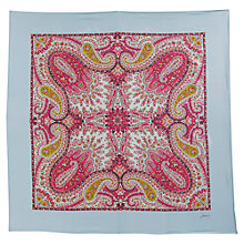 Buy Joules Bloomfield Silk Scarf, Blue Online at johnlewis.com