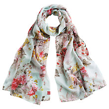 Buy Joules Wensley Posy Floral Print Scarf, Blue Online at johnlewis.com