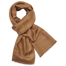 Buy Mulberry Monogram Silk Wool Jacquard Scarf Online at johnlewis.com