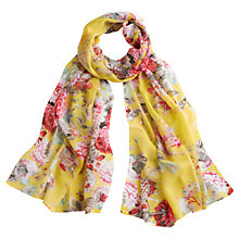 Buy Joules Wensley Floral Print Scarf, Yellow Online at johnlewis.com