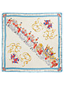 Joules Britannia Silk Square Scarf, Blue/Cream