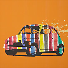Buy Gallery One Fiat 500 Stripes Picture Box, 50 x 50cm Online at johnlewis.com