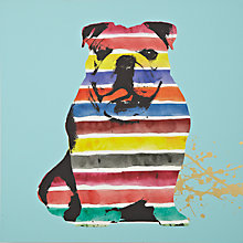 Buy Gallery One Bulldog Stripes Picture Box, 50 x 50cm Online at johnlewis.com