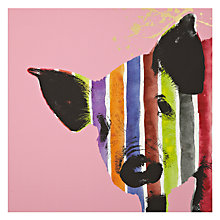Buy Gallery One Pig Stripes Picture Box, 50 x 50cm Online at johnlewis.com