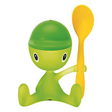 Buy Alessi Cico Egg Cup & Spoon, Green Online at johnlewis.com