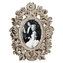 Buy Brissi Oval Photo Frame, Grey Online at johnlewis.com