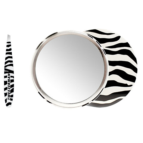 Buy Tweezerman Zebra Mini Slant Tweezer & Mirror Set Online at johnlewis.com