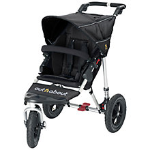 Buy Out 'N' About Nipper V3 Single Pushchair, Raven Black Online at johnlewis.com