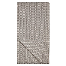 Buy John Lewis Croft Collection Tiny Check Stripe Throw, Stone Online at johnlewis.com