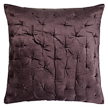 Buy John Lewis Velvet Stitch Cushion Cover, Damson Online at johnlewis.com