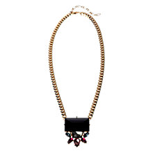 Buy Adele Marie Made in the UK 14ct Gold Plated Bead Drop Necklace, Black Online at johnlewis.com