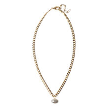 Buy Adele Marie Made in the UK 14ct Gold Plated Oval Pearl Drop Pendant Online at johnlewis.com