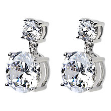 Buy Adele Marie Silver Plated Crystal Stud Earrings Online at johnlewis.com