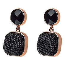 Buy Adele Marie Gold Plated Black Stone Drop Earrings Online at johnlewis.com