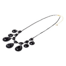 Buy Adele Marie Gold Plated  Antique Drop Necklace, Black Online at johnlewis.com