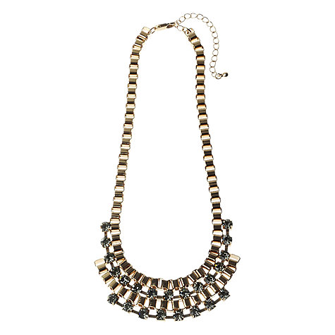Buy Adele Marie Gold Plated Diamante Link Necklace Online at johnlewis.com