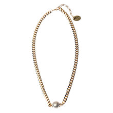 Buy Adele Marie Made in the UK 14ct Gold Plated Pearl Chain Necklace Online at johnlewis.com