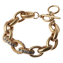 Buy Adele Marie 14ct Gold Plated Diamante Link Bracelet Online at johnlewis.com
