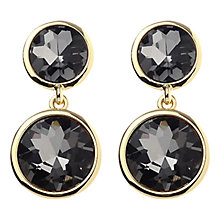 Buy Adele Marie Gold Plated Grey Stone Drop Earrings Online at johnlewis.com