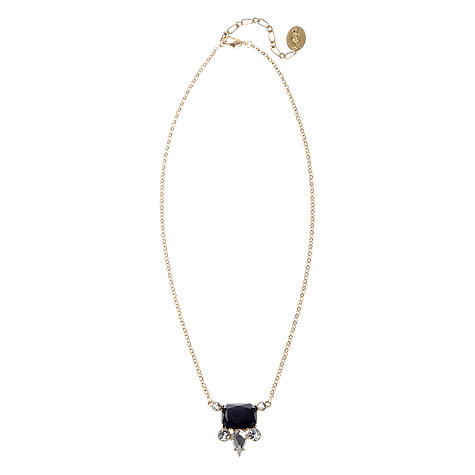 Buy Adele Marie Made in the UK 14ct Gold Plated Resin Cluster Drop Necklace, Black Online at johnlewis.com