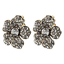 Buy Adele Marie Gold Plated Diamante Flower Stud Earrings Online at johnlewis.com