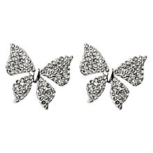 Buy Adele Marie Silver Toned Butterfly Diamante Stud Earrings Online at johnlewis.com