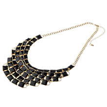 Buy Adele Marie 14ct Gold Plated Black Enamel Multi Layered Necklace Online at johnlewis.com