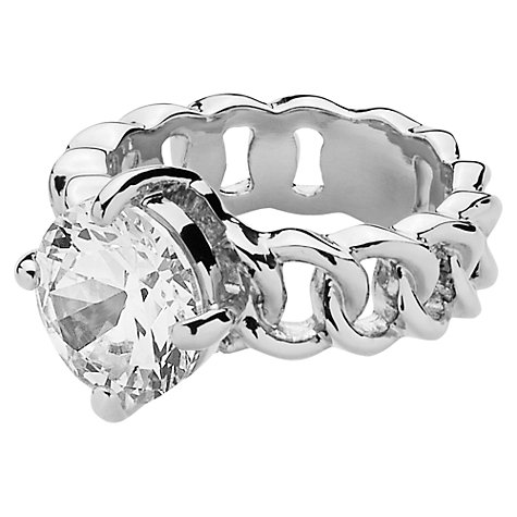 Buy Dyrberg/Kern Betty Silver Plated Swarovski Crystal Ring Online at johnlewis.com
