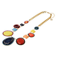 Buy Adele Marie Gold Plated Multi Colour Festival Pendant Necklace Online at johnlewis.com