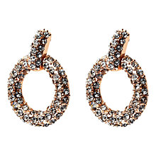 Buy Adele Marie Gold Plated Diamante Hoop Earrings Online at johnlewis.com