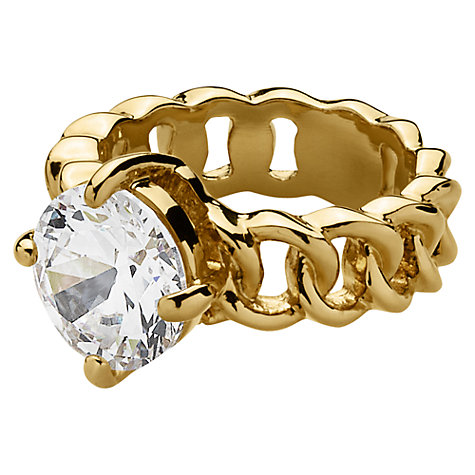 Buy Dyrberg/Kern Betty Gold Crystal Solitaire Ring Online at johnlewis.com