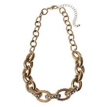 Buy Adele Marie 14ct Gold Plated Diamante Link Necklace Online at johnlewis.com