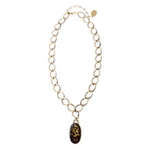 Buy Adele Marie Made In The UK Gold Toned Leopard Print Stone Pendant Necklace Online at johnlewis.com