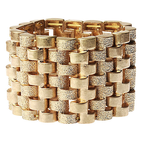 Buy Adele Marie 14ct Gold Plated Heavy Gold Link Bracelet Online at johnlewis.com